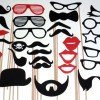 Photo Booth Props DIY Lips Mustache Glasses Hats